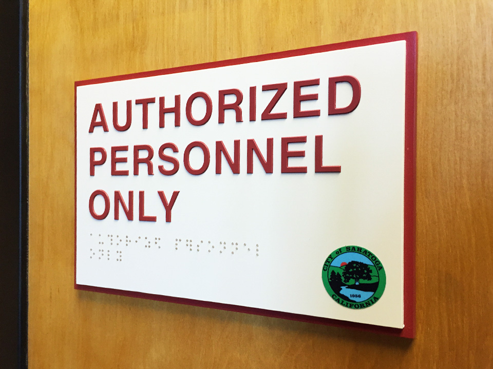 ADA sign production in Pleasanton