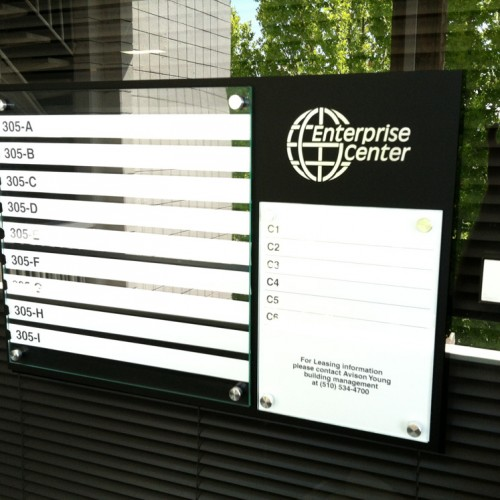 Directory for Enterprise Business Center by Bennett Graphics in Pleasanton