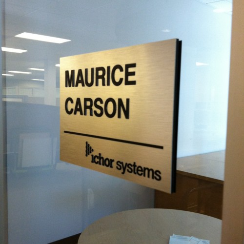 Pleasanton based Office Nameplate production
