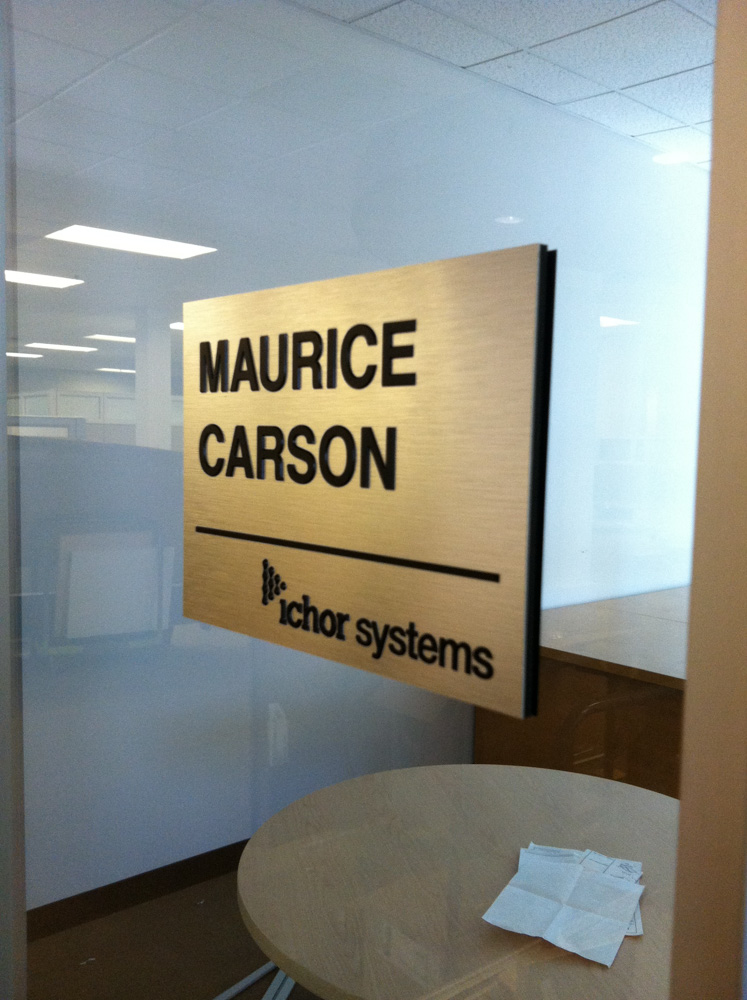 Pleasanton based Office Nameplate production