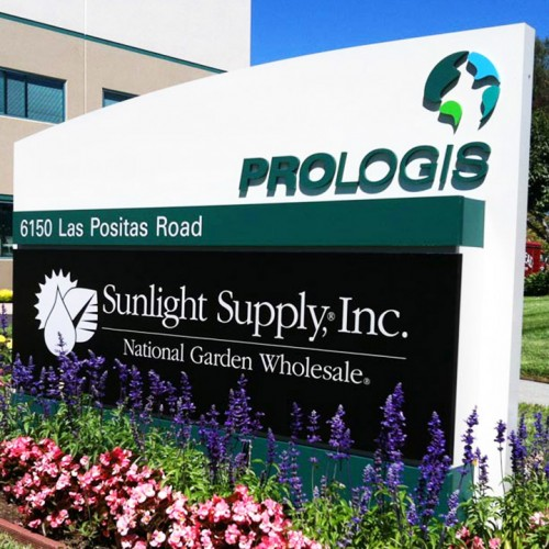 Monument Sign for Prologis installed in Pleasanton