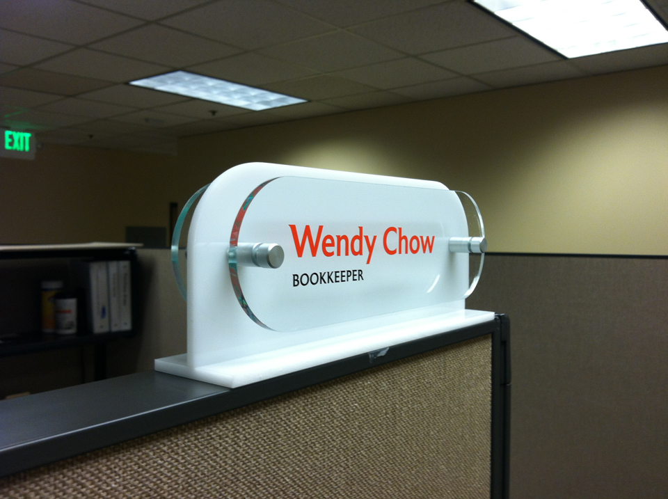 Nameplate made for Phoenix by Bennett Graphics in Pleasanton