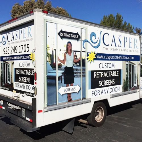 Vehicle wrap designed and installed in Pleasanton