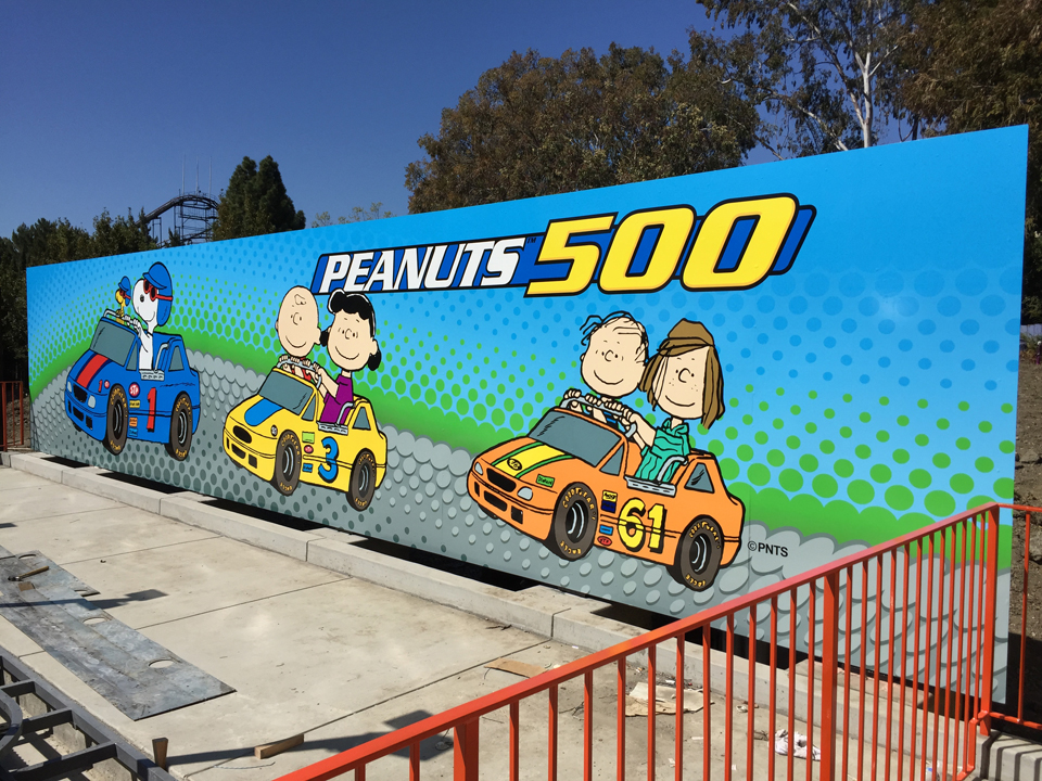 Wall Graphic by Bennett Graphics for Peanuts 500 Ride