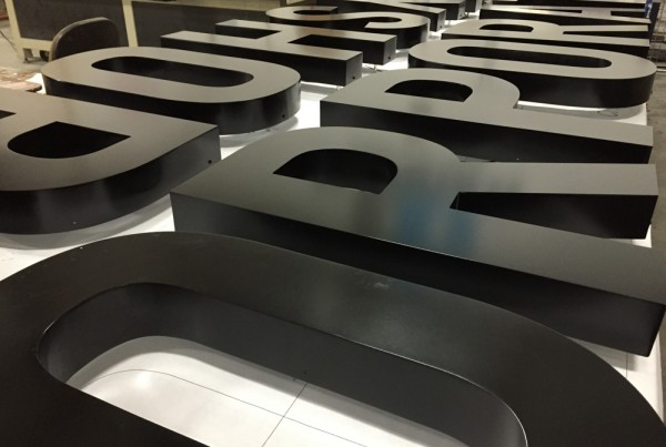 Channel Letters being made in Pleasanton workshop