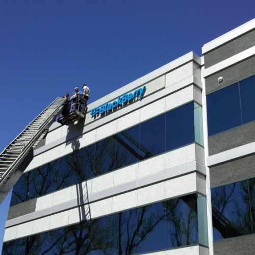 LED Illuminated sign for Blackberry by Bennett Graphics