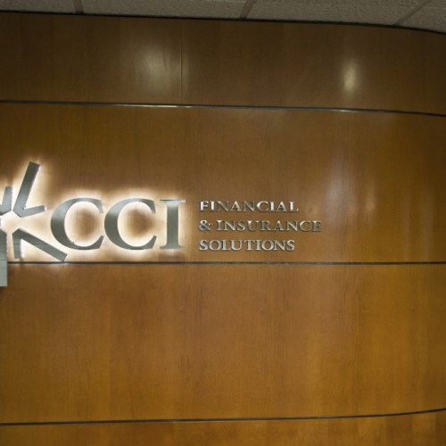 Lobby Sign for CCI with LED custom made in Pleasanton by T. Bennett Services LLC