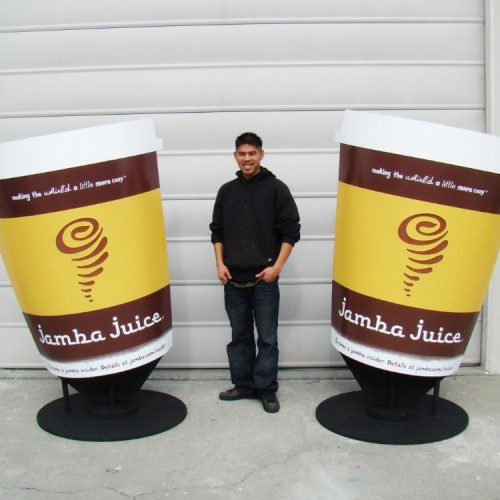 Store signage for Jamba Juice in Pleasanton, CA