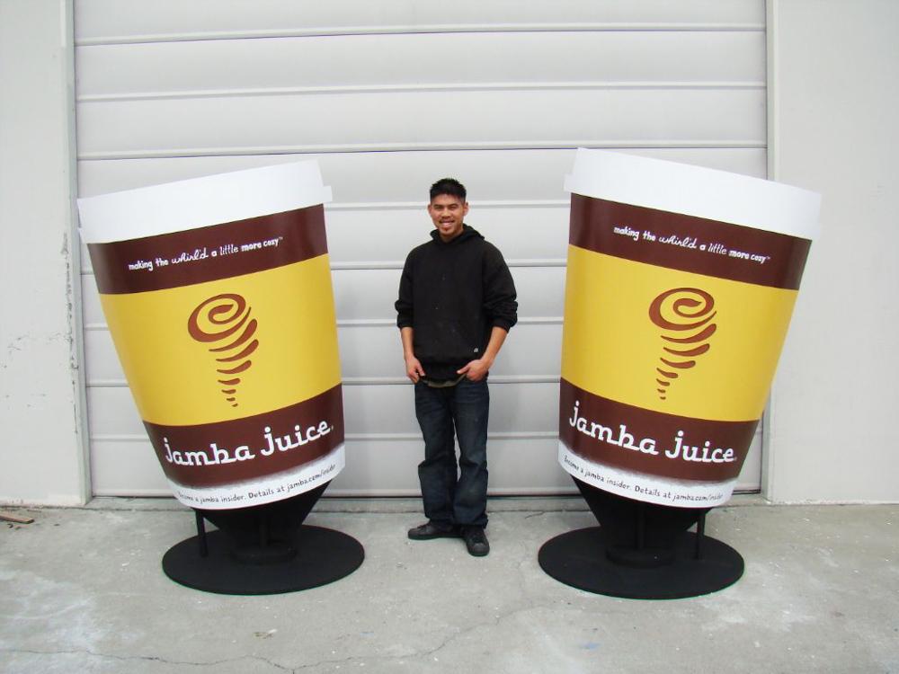 Store signage for Jamba Juice in Pleasanton, CA