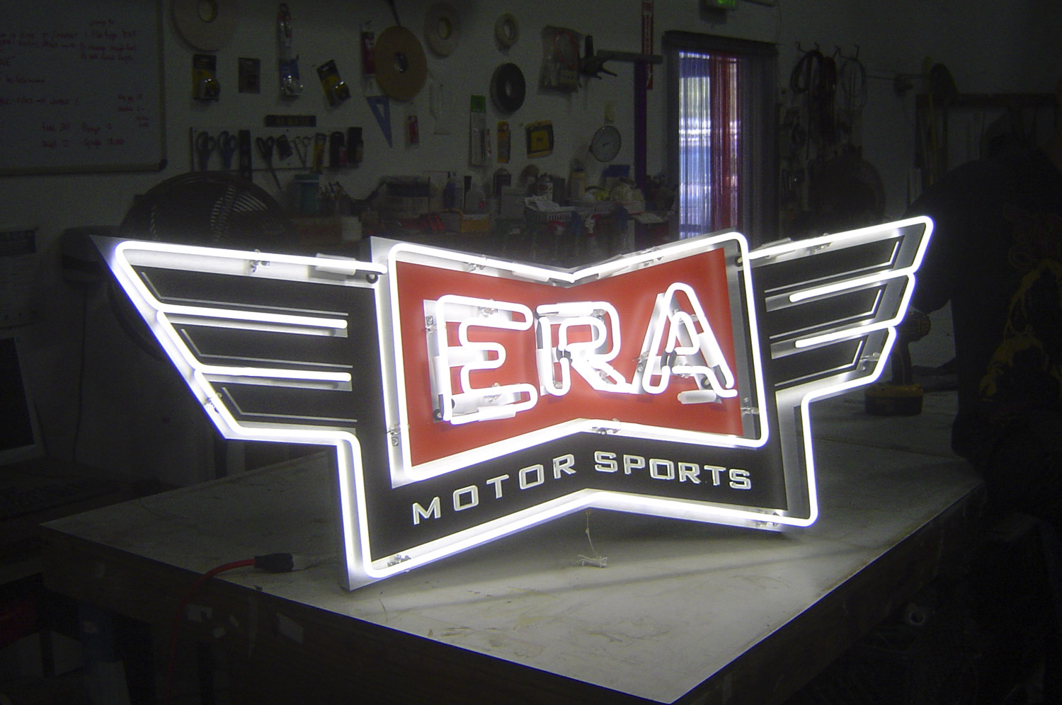 Neon and LED Push-through sign made in Pleasanton