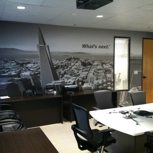 vinyl wall graphics installed in Pleasanton