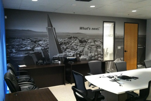 vinyl wall graphics installed in Pleasanton