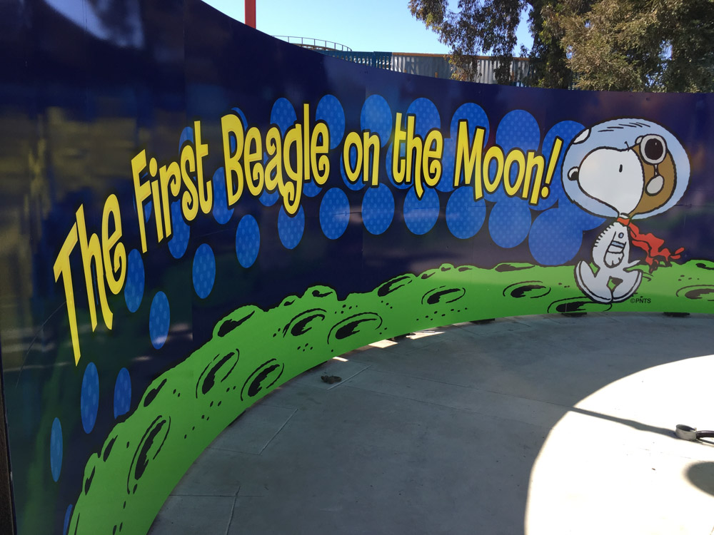 wall graphic installation for Great America, by Bennett Graphics