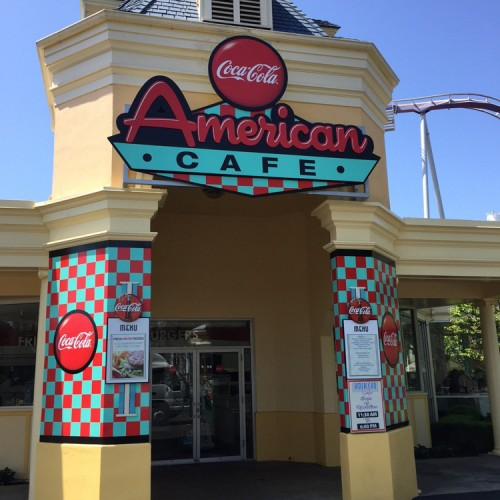 Cafe and theme park signage production in Pleasanton, CA