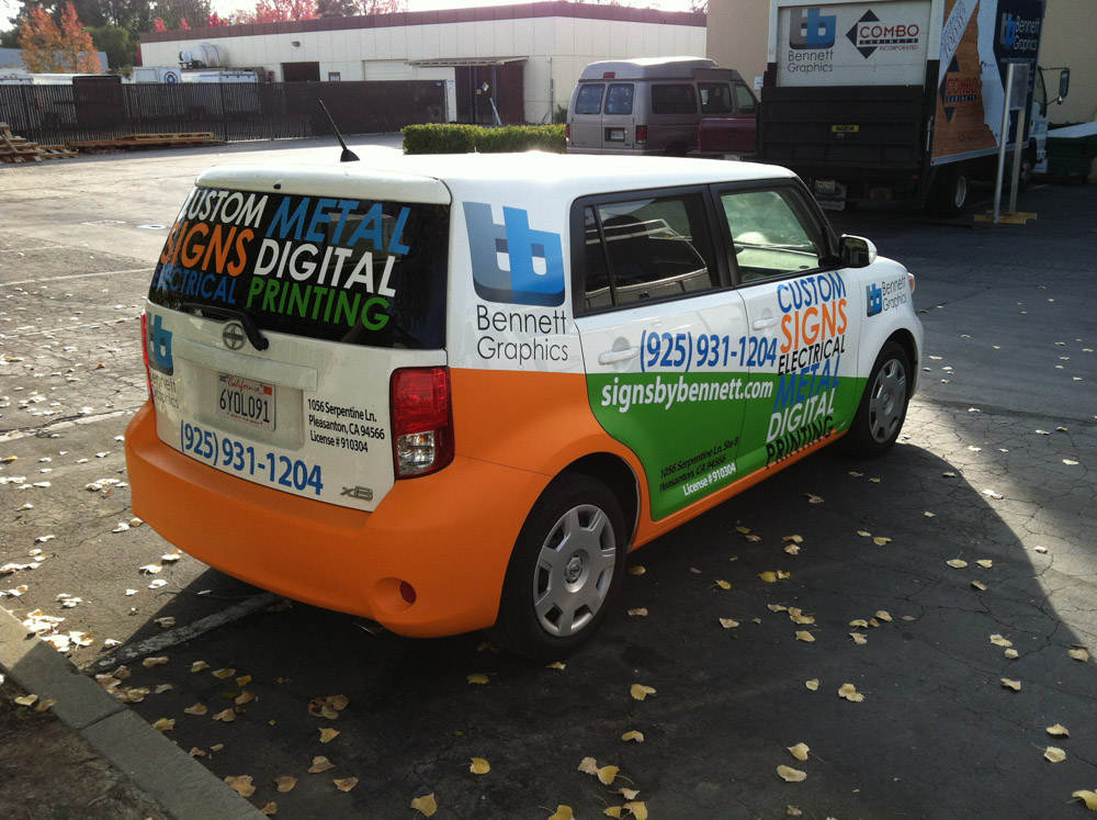 Vehicle Lettering and graphics wrap in Pleasanton