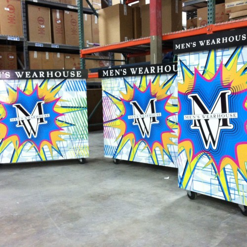 Vinyl Graphic displays made by Bennett Graphics in Pleasanton