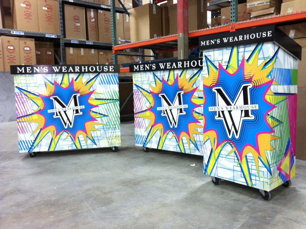 Vinyl Graphic displays made by Bennett Graphics in Pleasanton