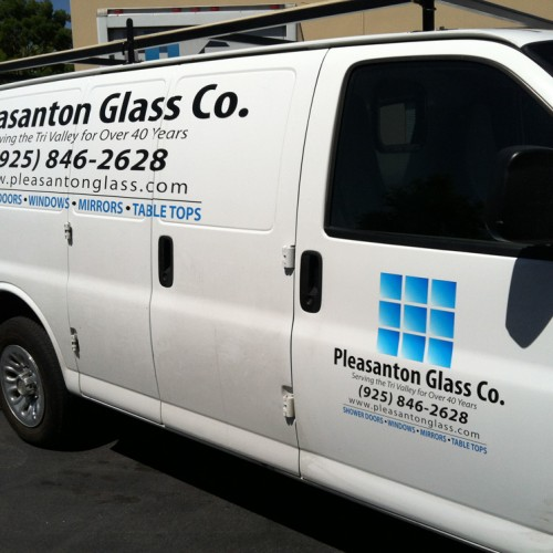 Vehicle wrap installation in Pleasanton