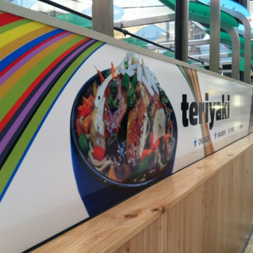 Vinyl Graphics installed in Stoneridge Mall in Pleasanton