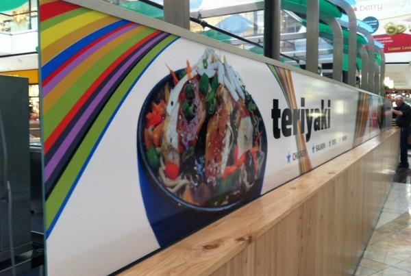 Vinyl Graphics installed in Stoneridge Mall in Pleasanton