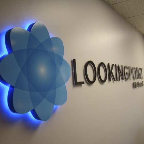 LED Illuminated Lobby sign installed in Pleasanton