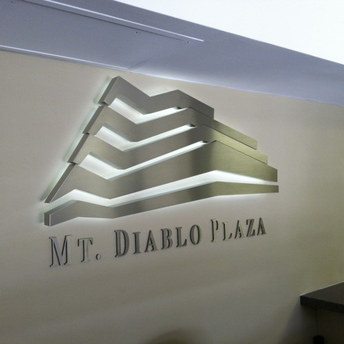 Mt Diablo Plaza LED Lobby sign installed in Pleasanton CA