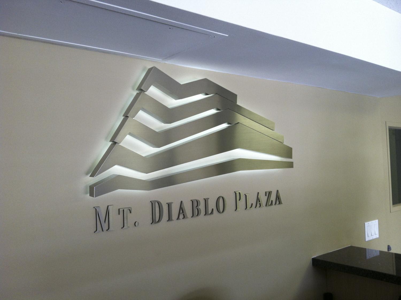 Mt Diablo Plaza LED Lobby sign installed in Pleasanton CA
