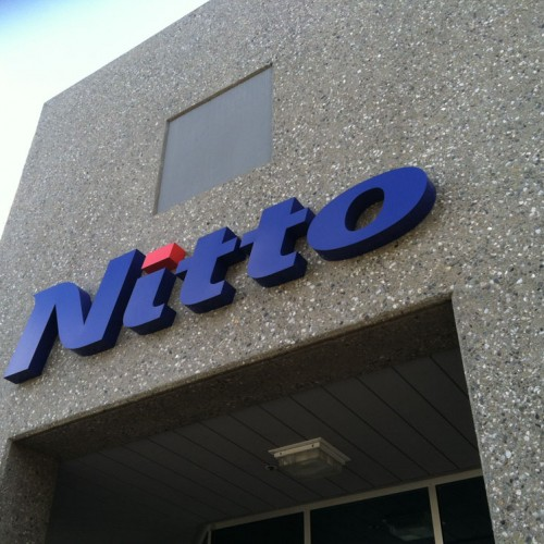 T. Bennett Services, LLC made Reverse Pan Channel Aluminum Sign for Nitto