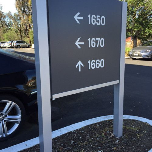 Building directory on Post and Panel Sign by Bennett Graphics in Pleasanton