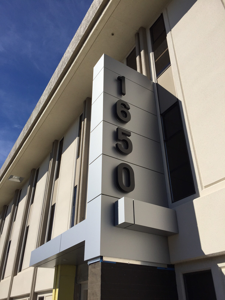 Halo Illuminated Channel Letters for PS Business Park made by T Bennett Services, LLC