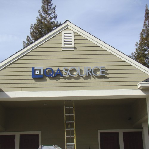 Halo Channel Aluminum Signs installed in Pleasanton CA