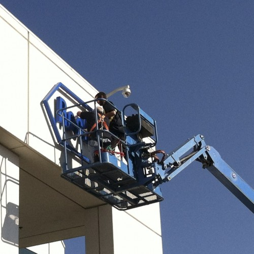 Sign refurbished from neon to LED building in Pleasanton