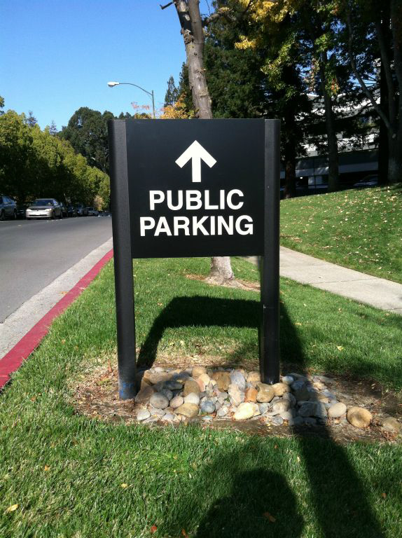 Parking Sign made from Post and Panel by Bennett Graphics in Pleasanton