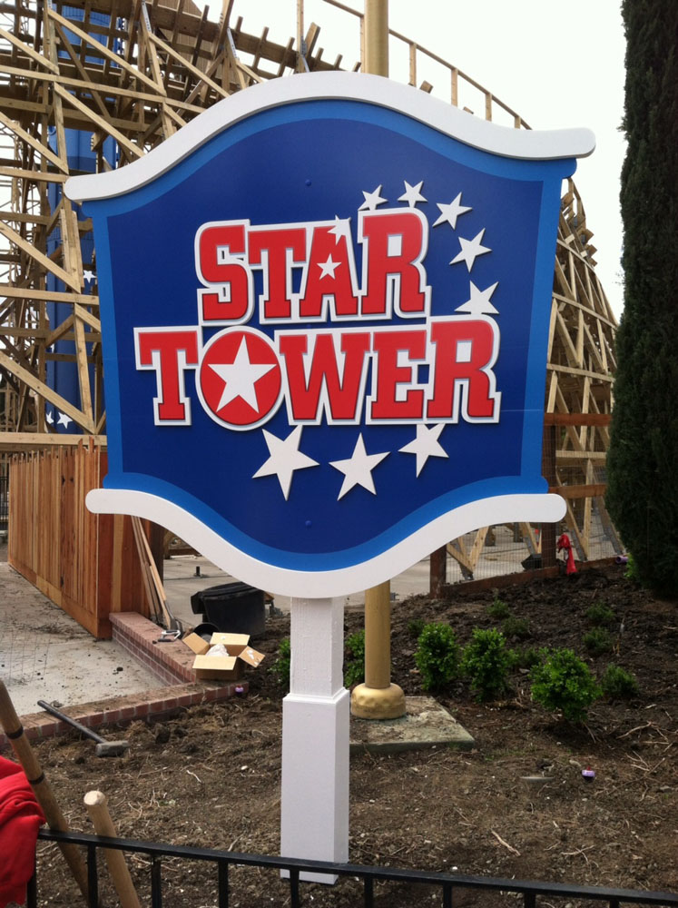 roller coaster sign production in Pleasanton by Bennett Graphics