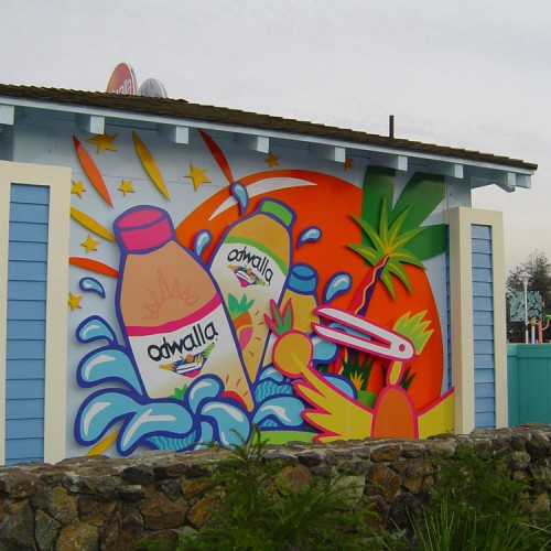 wall graphic for Odwalla by Bennett Graphics, in Pleasanton