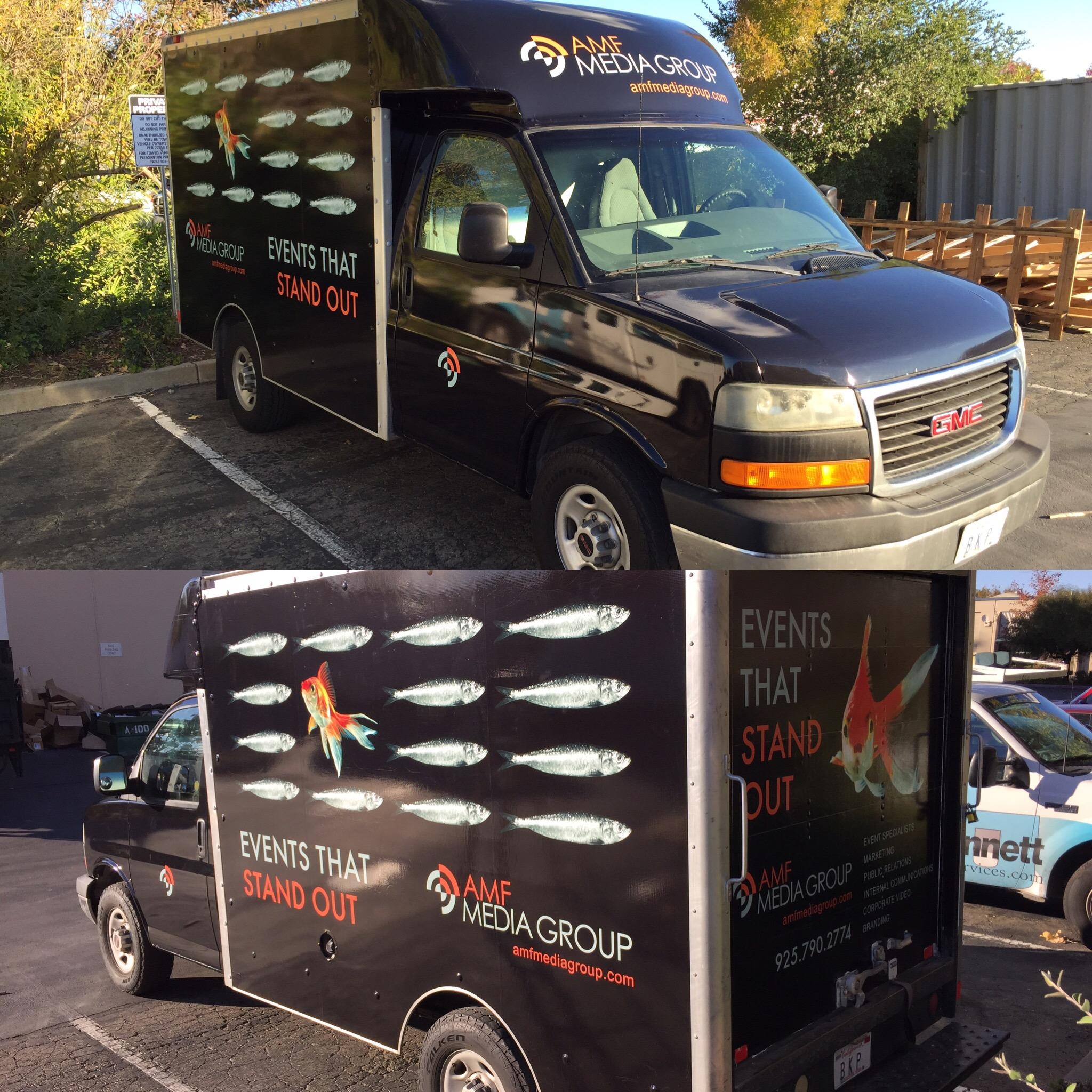 example of custom box van wrap