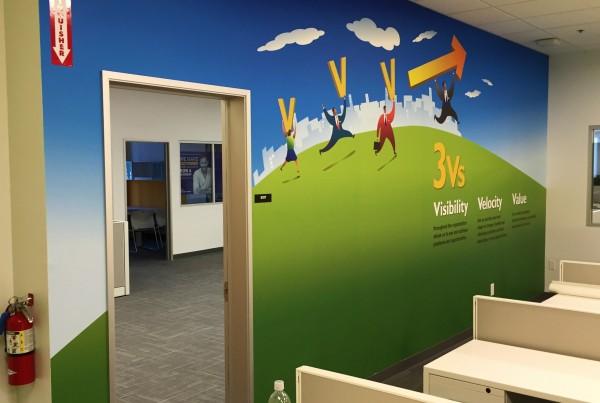 custom office wall graphic