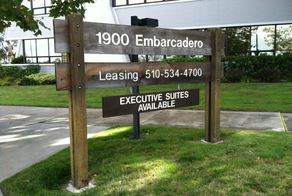 Wood Marketing Panel signage in Livermore, CA