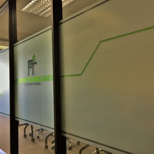 interior office window film installation in pleasanton