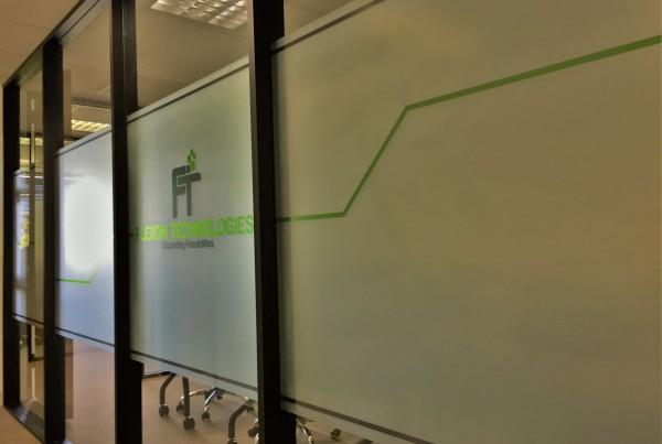 interior office window film installation in pleasanton