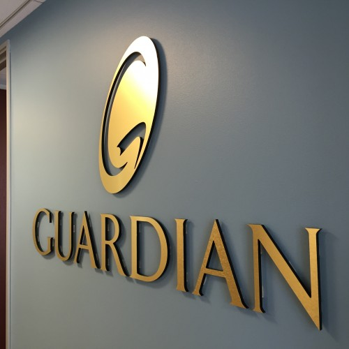 custom lobby sign production in pleasanton for Guardian