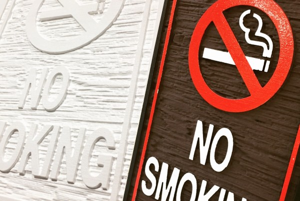 no smoking sign production