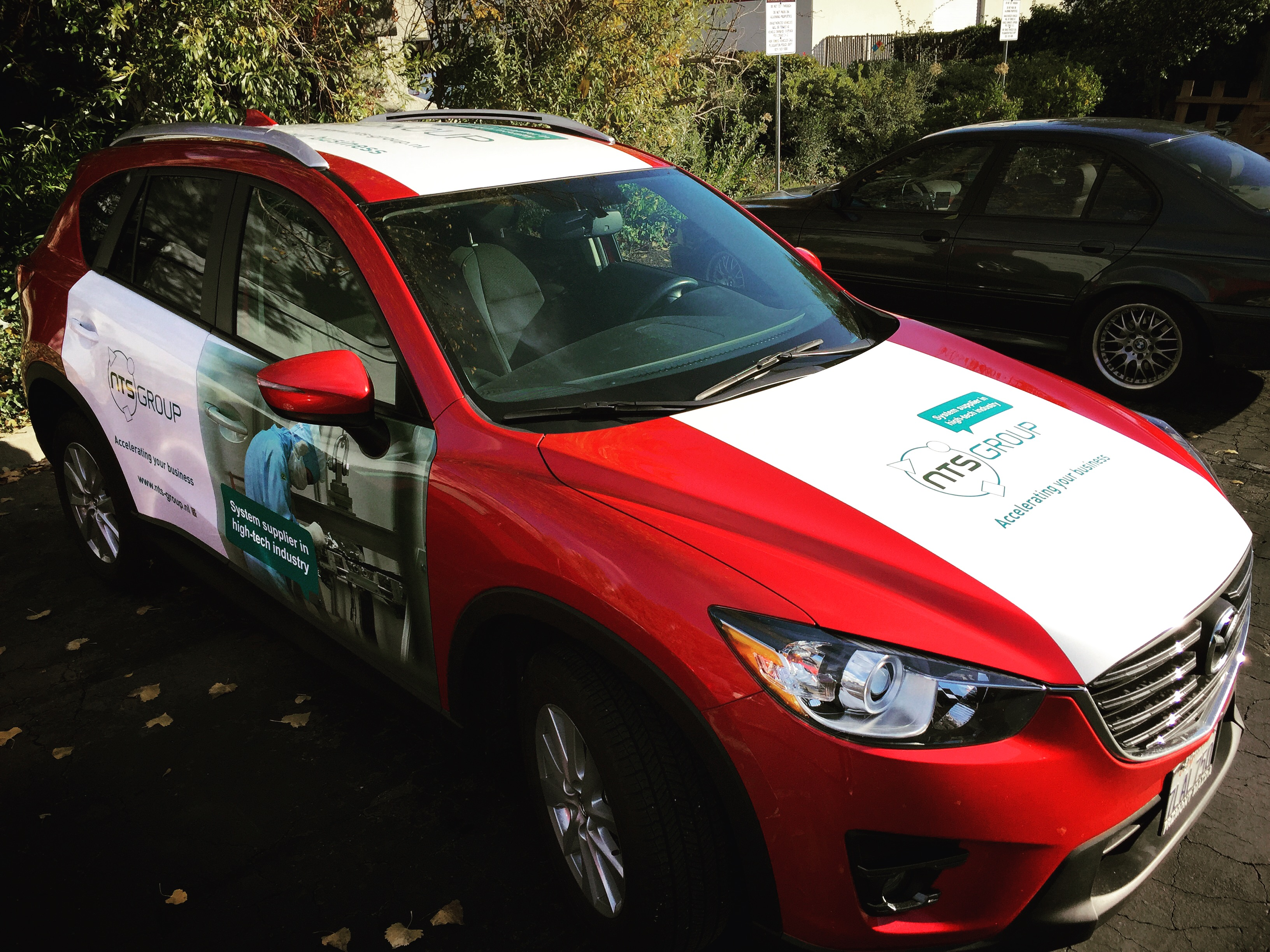 custom vehicle wrap production in pleasanton for NT data