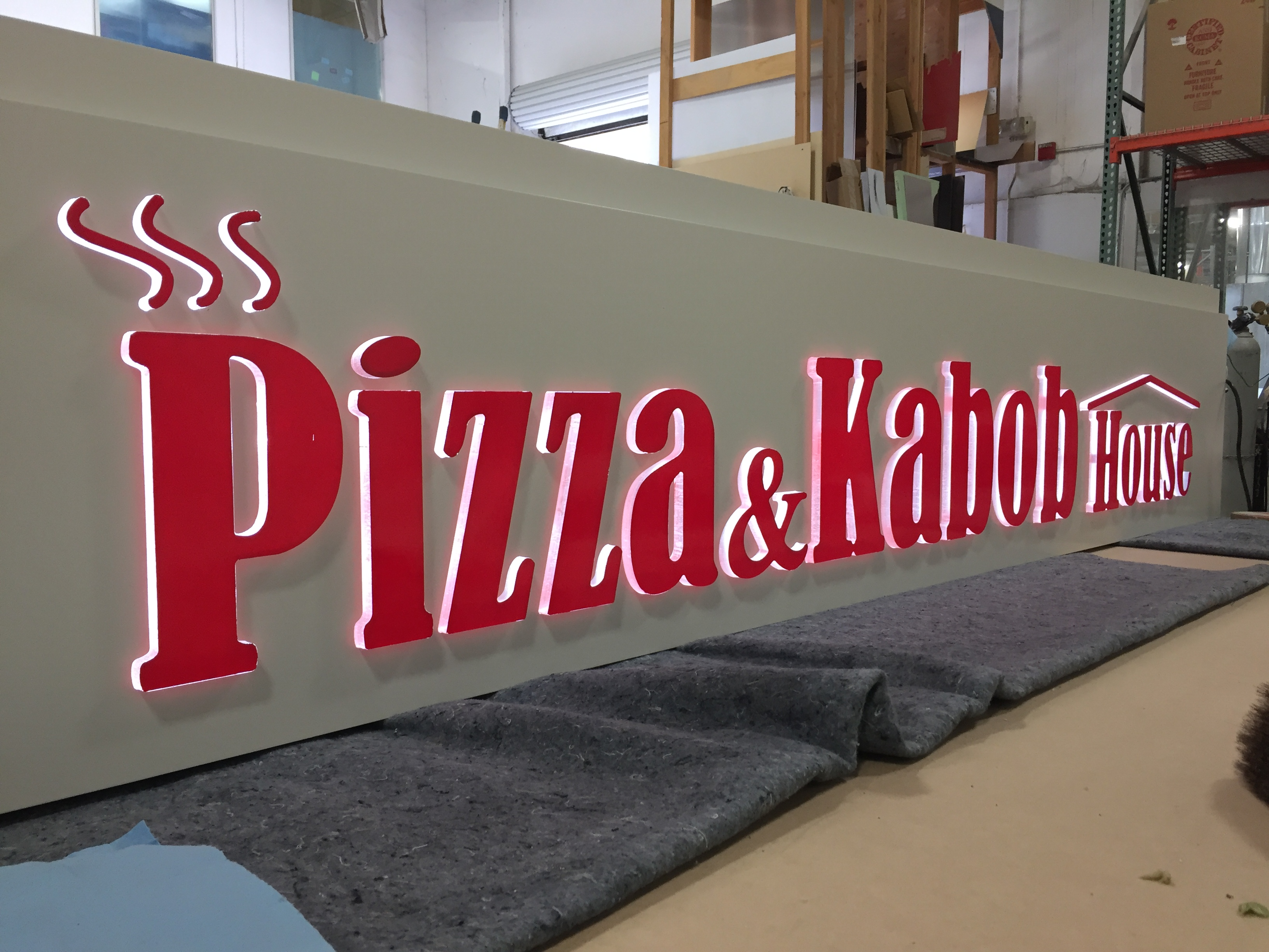 Acrylic LED sign for business in Pleasanton, CA