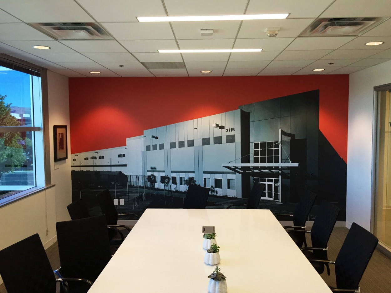 custom office wall graphics in pleasanton