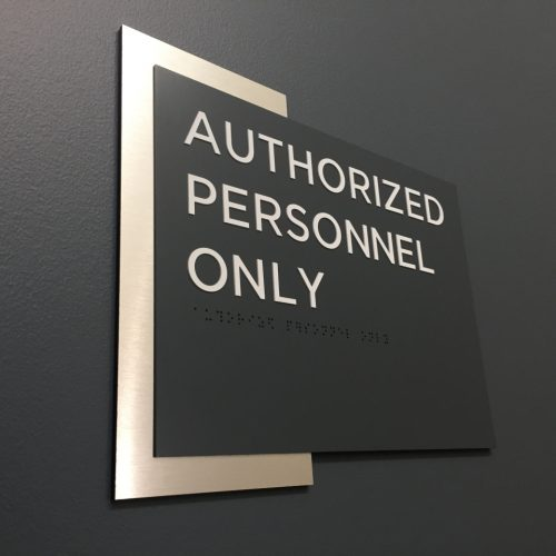 Interior Wayfinding Authorized Personnel Only