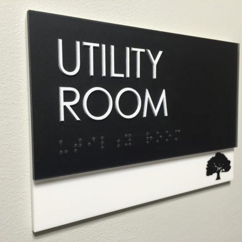 Interior Wayfinding - Utility Room
